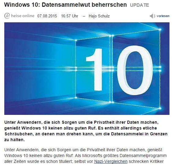 Win10Datensammelwut